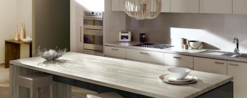 Image Result For White Kitchen White Benchtop